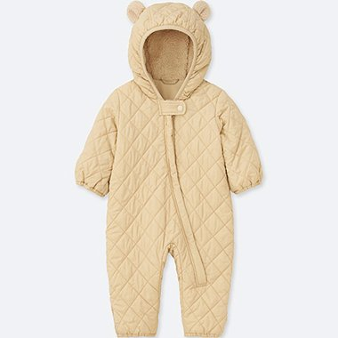 BABIES NEWBORN WARM PADDED LONG SLEEVE ONE PIECE OUTFIT
