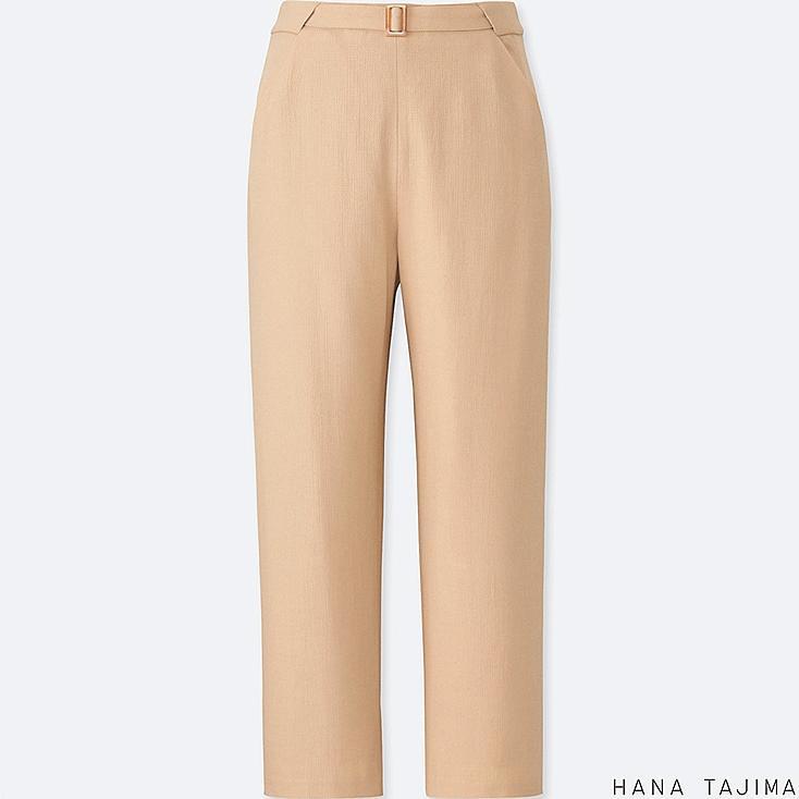 WOMEN ANKLE-LENGTH PANTS, BEIGE, large