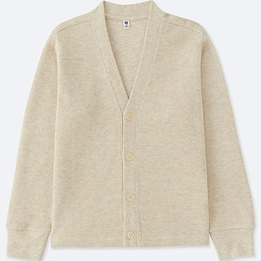 KIDS JERSEY CARDIGAN, BEIGE, medium