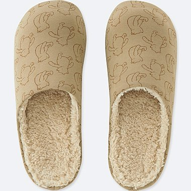 DISNEY HOLIDAY COLLECTION ROOM SHOES, BEIGE, medium