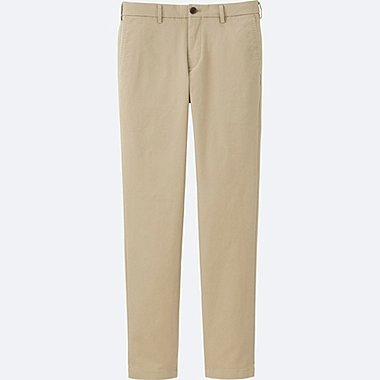 MEN SLIM FIT CHINO FLAT FRONT TROUSERS (32inch)