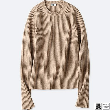 WOMEN UNIQLO U SHINY CREW NECK SWEATER