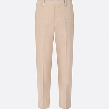 WOMEN SMART STYLE ANKLE-LENGTH PANTS, BEIGE, medium