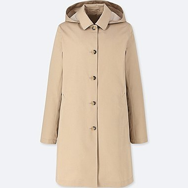 WOMEN BLOCKTECH SOUTIEN COLLAR HOODED COAT