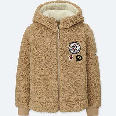 KIDS DISNEY FLUFFY FLEECE PARKA