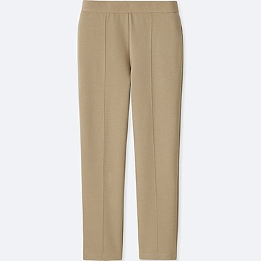 WOMEN PONTE KNIT SLIM FIT TROUSERS
