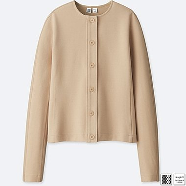 WOMEN UNIQLO U Ponte Crew Neck  Cardigan