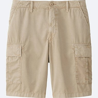 MEN CARGO SHORTS, BEIGE, medium