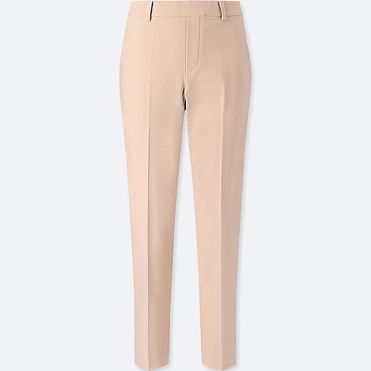 WOMEN EZY ANKLE-LENGTH PANTS, BEIGE, large