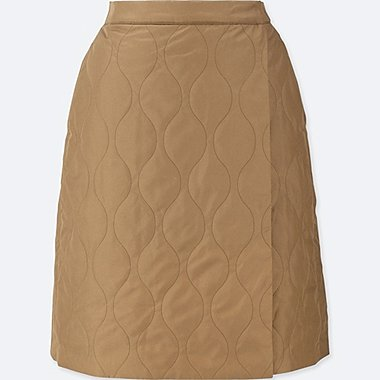 WOMEN WINDPROOF FLEECE LINED WRAP SKIRT