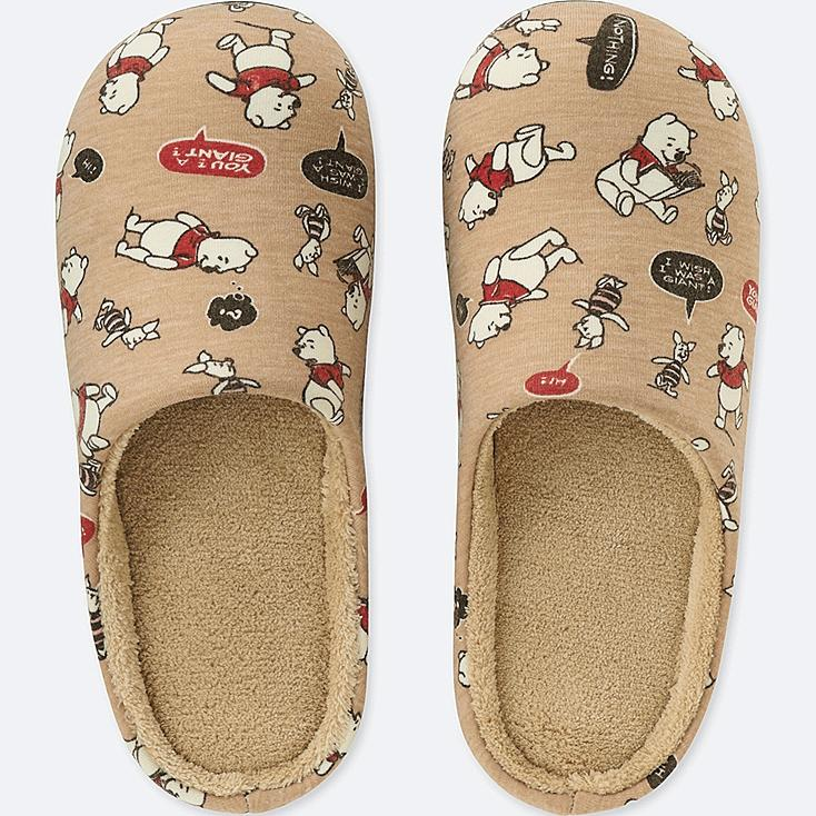 DISNEY HOLIDAY COLLECTION SLIPPERS, BEIGE, large