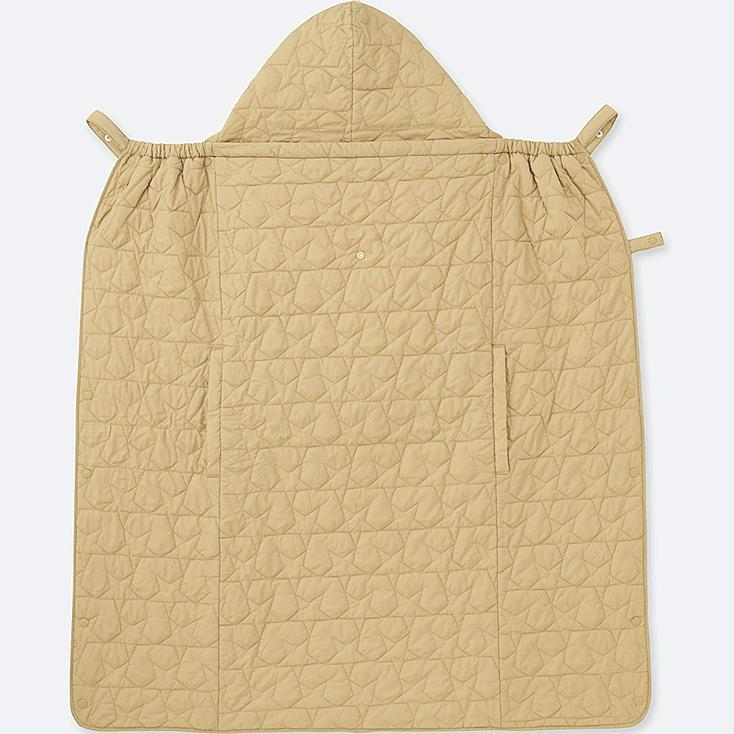BABY LIGHT WARM PADDED 2-WAY BLANKET, BEIGE, large