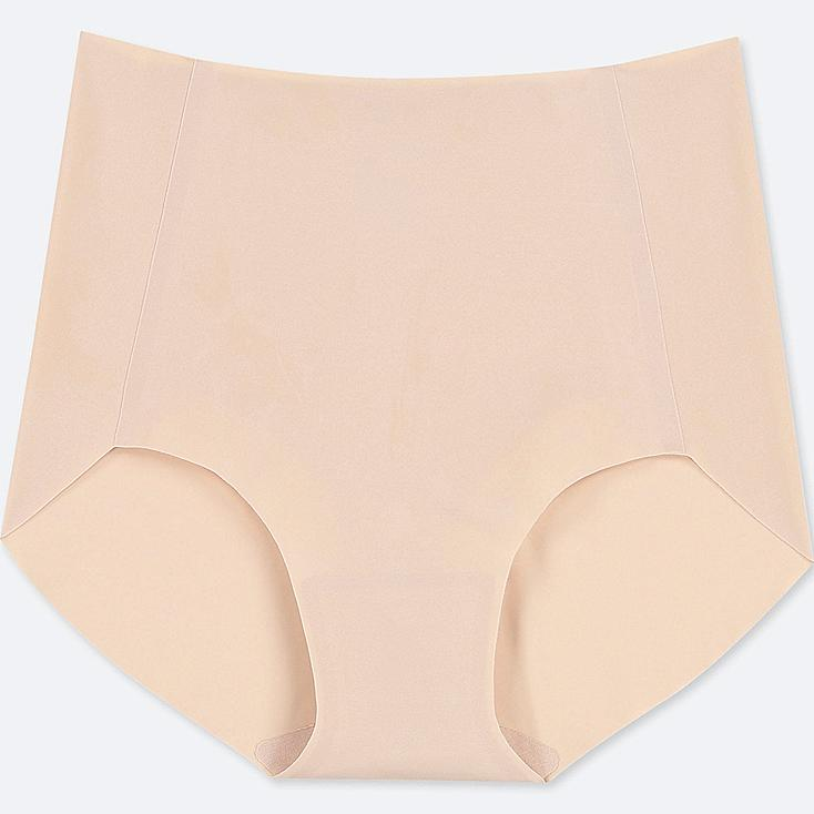 WOMEN AIRism ULTRA SEAMLESS HIGH-RISE BRIEF SHORTS, BEIGE, large
