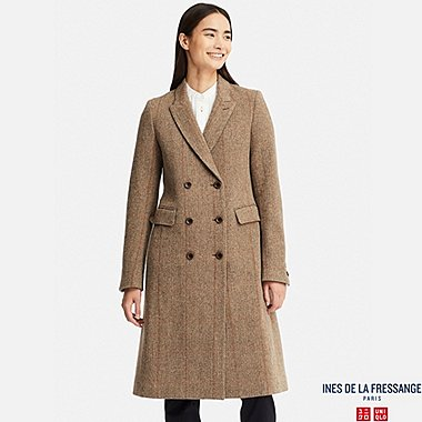 WOMEN TWEED COAT (INES DE LA FRESSANGE), BEIGE, medium