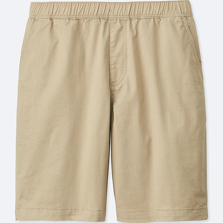 MEN DRY STRETCH WOVEN EASY SHORTS, BEIGE, large