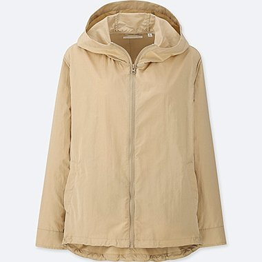 WOMEN NYLON PARKA (ONLINE EXCLUSIVE), BEIGE, medium