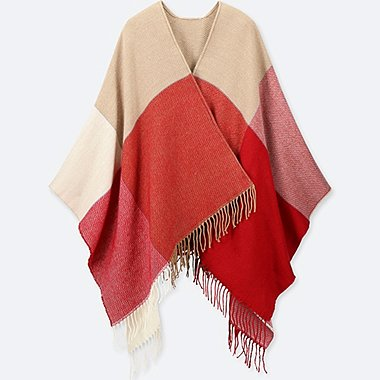COLOR BLOCK 2-WAY STOLE, BEIGE, medium