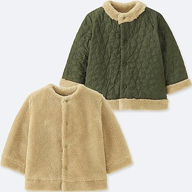 BABIES TODDLER REVERSIBLE COAT LIGHT WARM PADDED