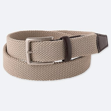 MEN STRETCH MESH BELT, BEIGE, medium