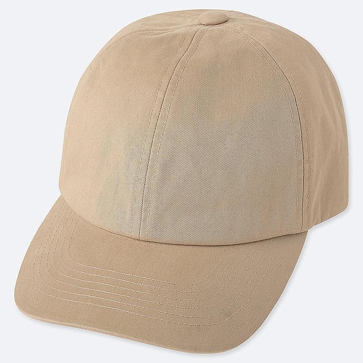COTTON TWILL CAP, BEIGE, large