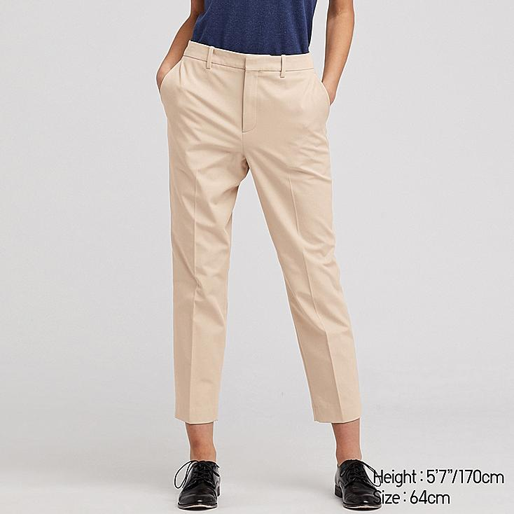 WOMEN EASY CARE STRETCH CROPPED PANTS (ONLINE EXCLUSIVE), BEIGE, large