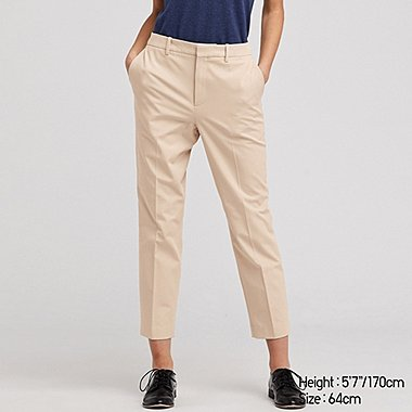 WOMEN EASY CARE STRETCH CROPPED PANTS (ONLINE EXCLUSIVE), BEIGE, medium