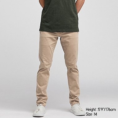 MEN EZY SKINNY FIT COLOR JEANS, BEIGE, medium