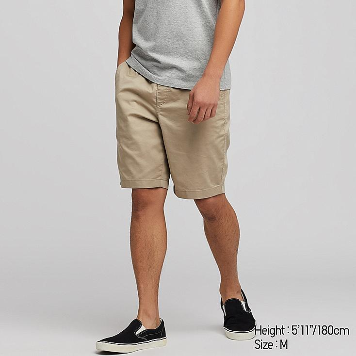 MEN DRY STRETCH EASY SHORTS, BEIGE, large