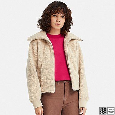 WOMEN UNIQLO U FLEECE LONG SLEEVE BLOUSON
