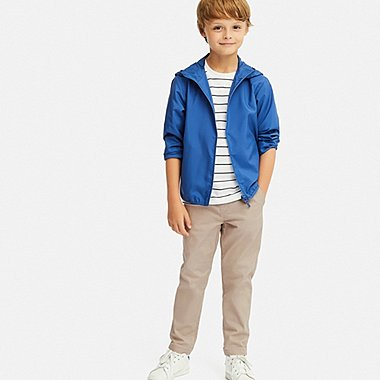 BOYS ULTRA STRETCH RELAXED TAPERED ANKLE PANTS, BEIGE, medium