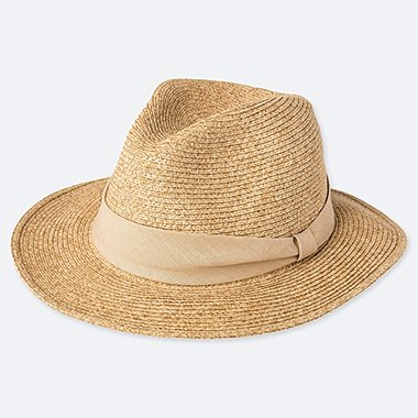 WOMEN ADJUSTABLE FEDORA HAT, BEIGE, medium