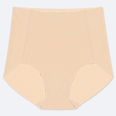 WOMEN AIRism ULTRA SEAMLESS HIGH-RISE BRIEF SHORTS, BEIGE, medium