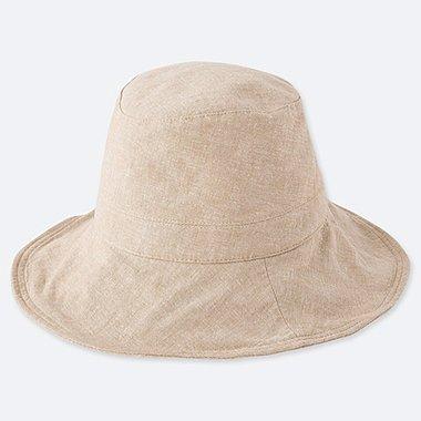 WOMEN UV CUT ADJUSTABLE HAT, BEIGE, medium