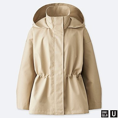 WOMEN UNIQLO U BLOCKTECH HOODED JACKET
