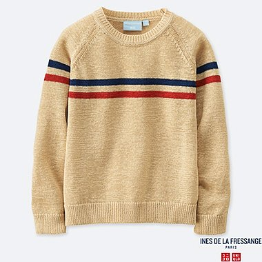 INES - PULL COL ROND MANCHES LONGUES ENFANT