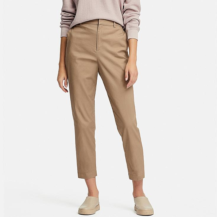 WOMEN EZY CHINO ANKLE-LENGTH PANTS, BEIGE, large