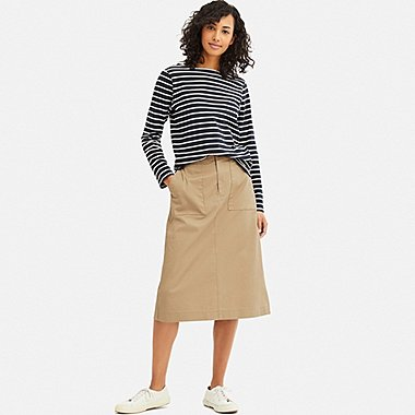 WOMEN BAKER SKIRT, BEIGE, medium