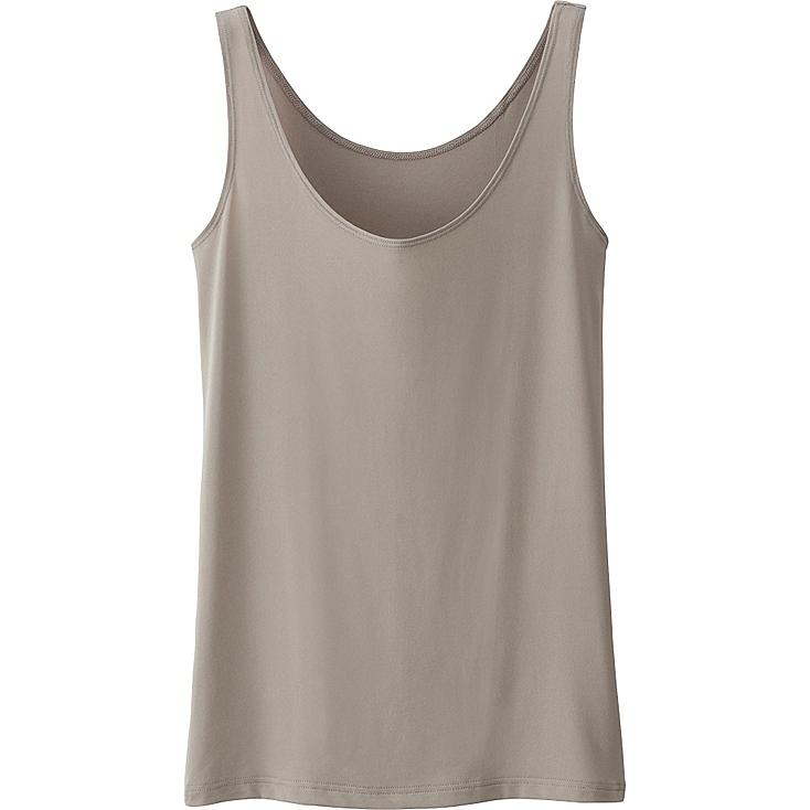 WOMEN AIRism SLEEVELESS TOP, BEIGE, large