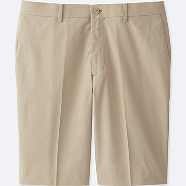 Men DRY Stretch (KANDO) Active Shorts, BEIGE, medium