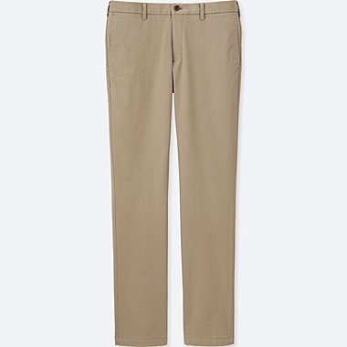 MEN SLIM FIT CHINO FLAT FRONT PANTS, BEIGE, medium