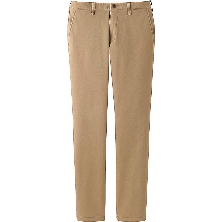 MEN BLOCKTECH SLIM FIT CHINO FLAT FRONT PANTS, BEIGE, large