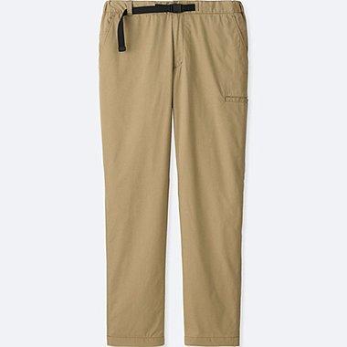 MEN BLOCKTECH WARM-LINED SLIM FIT PANTS, BEIGE, medium