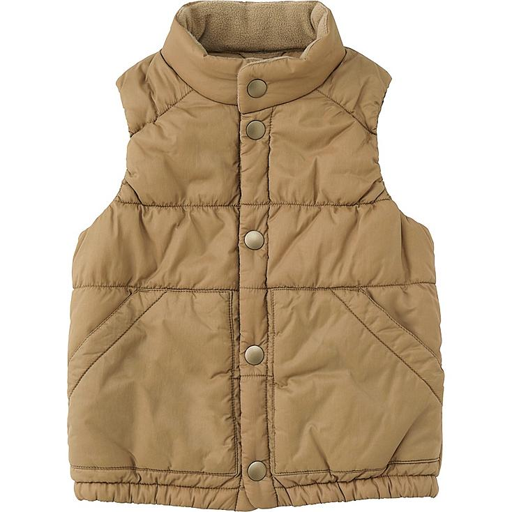 TODDLER LIGHT WARM PADDED FULL ZIP VEST, BEIGE, large