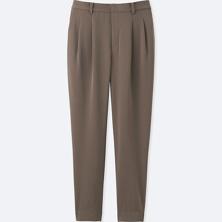 WOMEN DRAPE JOGGER PANTS, BEIGE, large