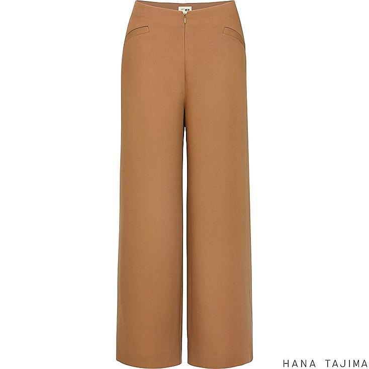 WOMEN TENCEL ANKLE LENGTH PANTS, BEIGE, large