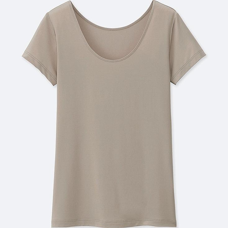 WOMEN AIRism Scoop Neck Short Sleeve T-Shirt
