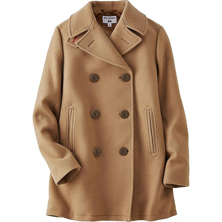 WOMEN IDLF PEA COAT, BEIGE, large