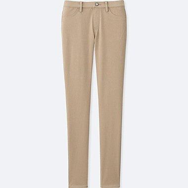 WOMEN LEGGINGS PANTS, BEIGE, medium