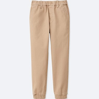 BOYS TWILL JOGGER PANTS, BEIGE, medium