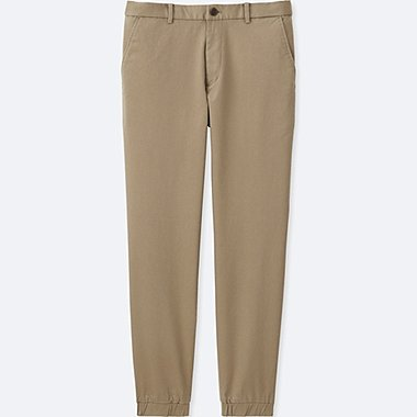 MEN JOGGER PANTS (COTTON), BEIGE, medium